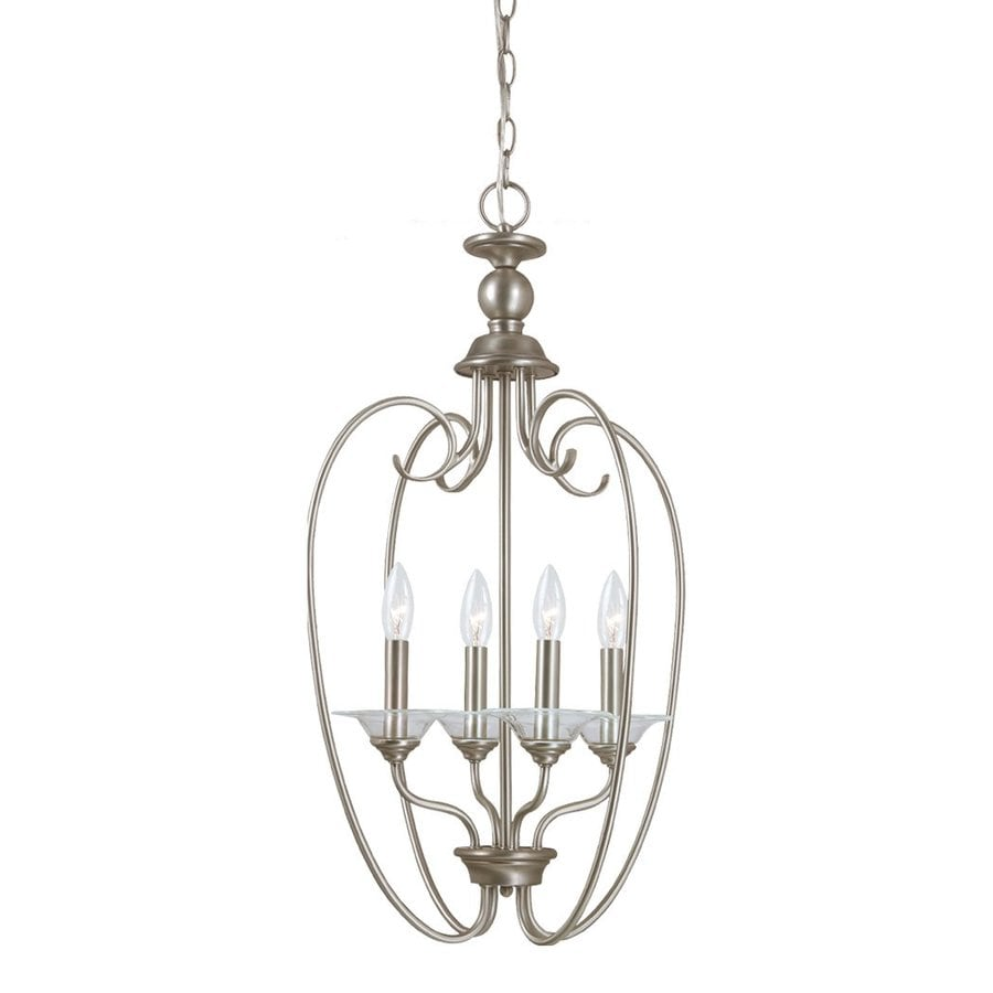 Sea Gull Lighting Lemont 16-in 4-Light Antique brushed nickel Vintage Candle Chandelier