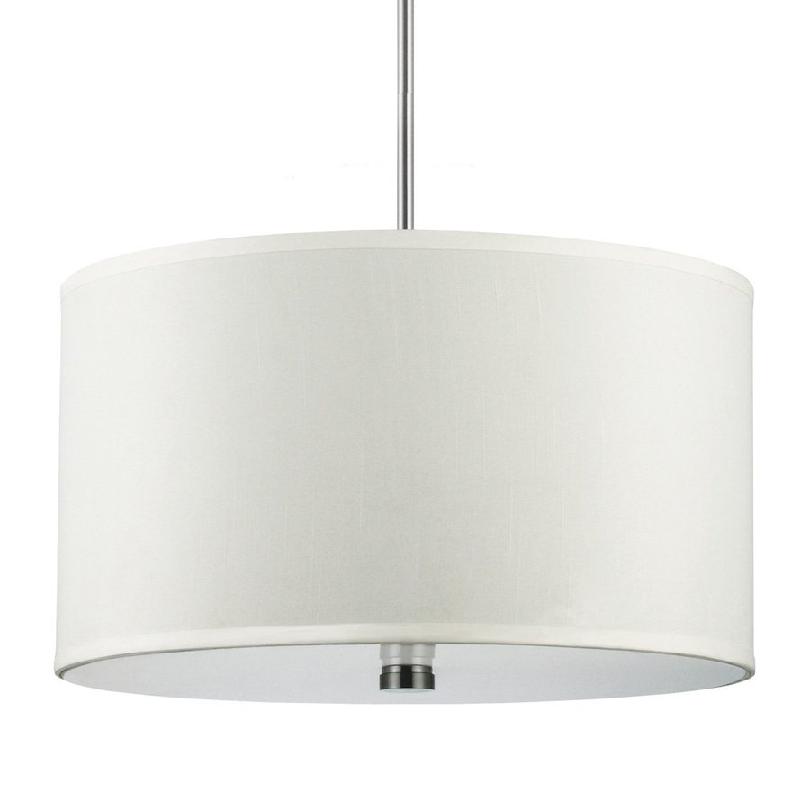 Sea Gull Lighting Dayna 19-in Brushed Nickel Single Drum Pendant
