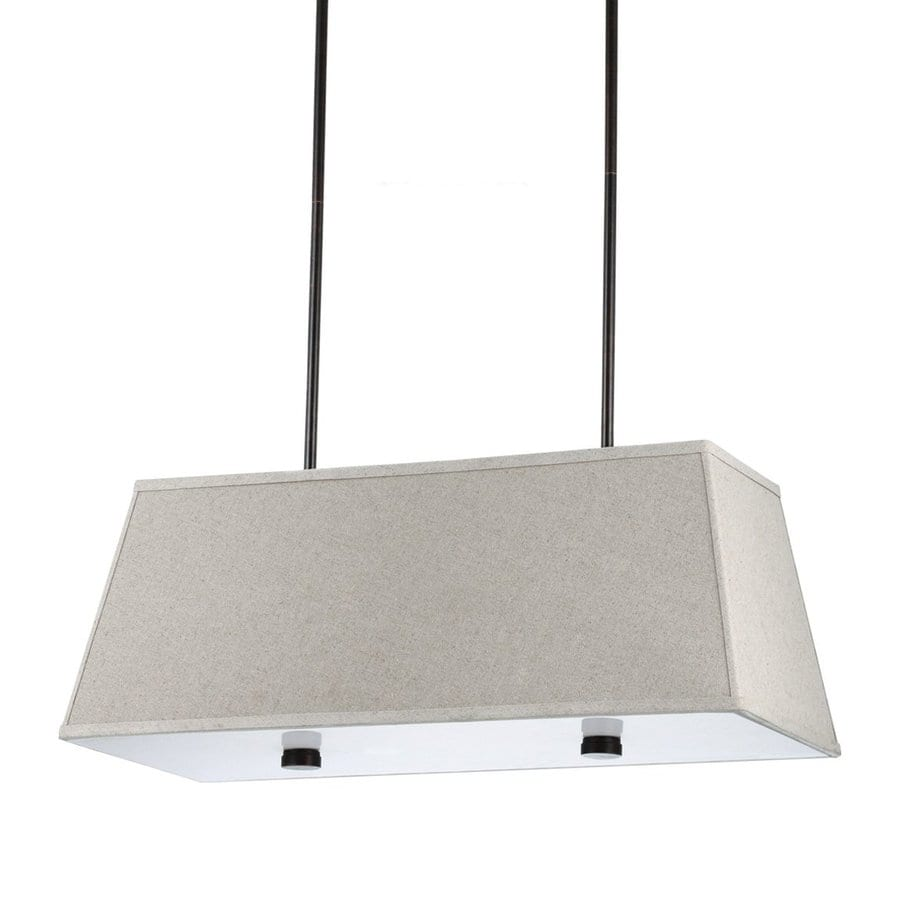 Sea Gull Lighting Dayna Shade 36-in W 4-Light Burnt Sienna Kitchen Island Light with Fabric Shade