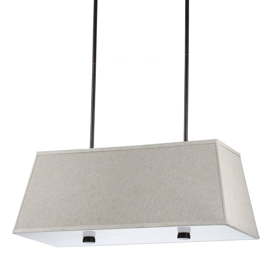 Sea Gull Lighting Dayna Shade 36-in W 4-Light Burnt Sienna Kitchen Island Light with Fabric Shade ENERGY STAR