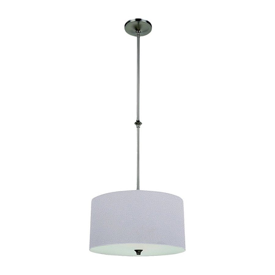 Sea Gull Lighting Stirling 16-in Brushed Nickel Single Drum Pendant