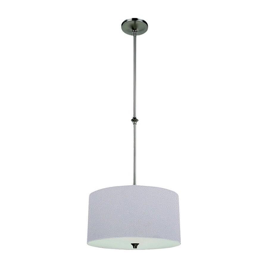 Sea Gull Lighting Stirling 16-in Brushed Nickel Hardwired Single Drum Pendant