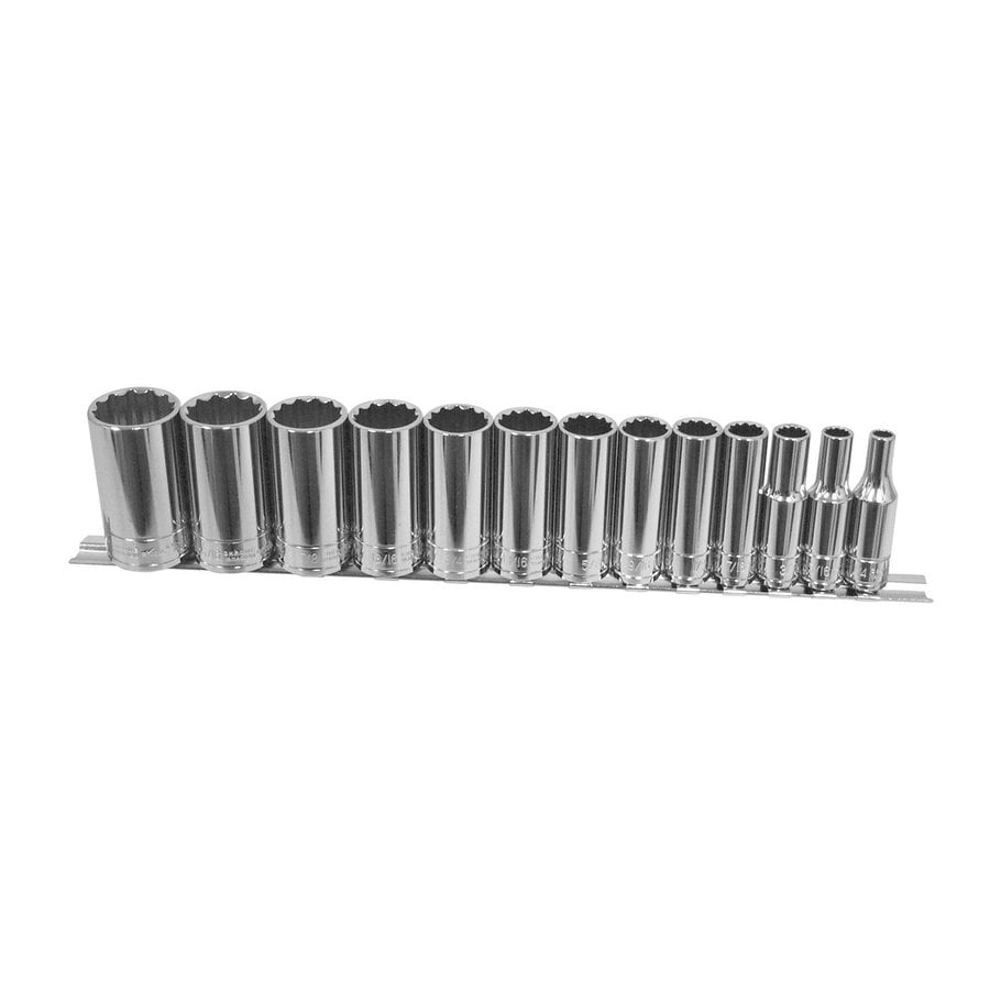 K Tool International 13-Piece Standard (SAE) 3/8-in Drive 12-Point Socket Set