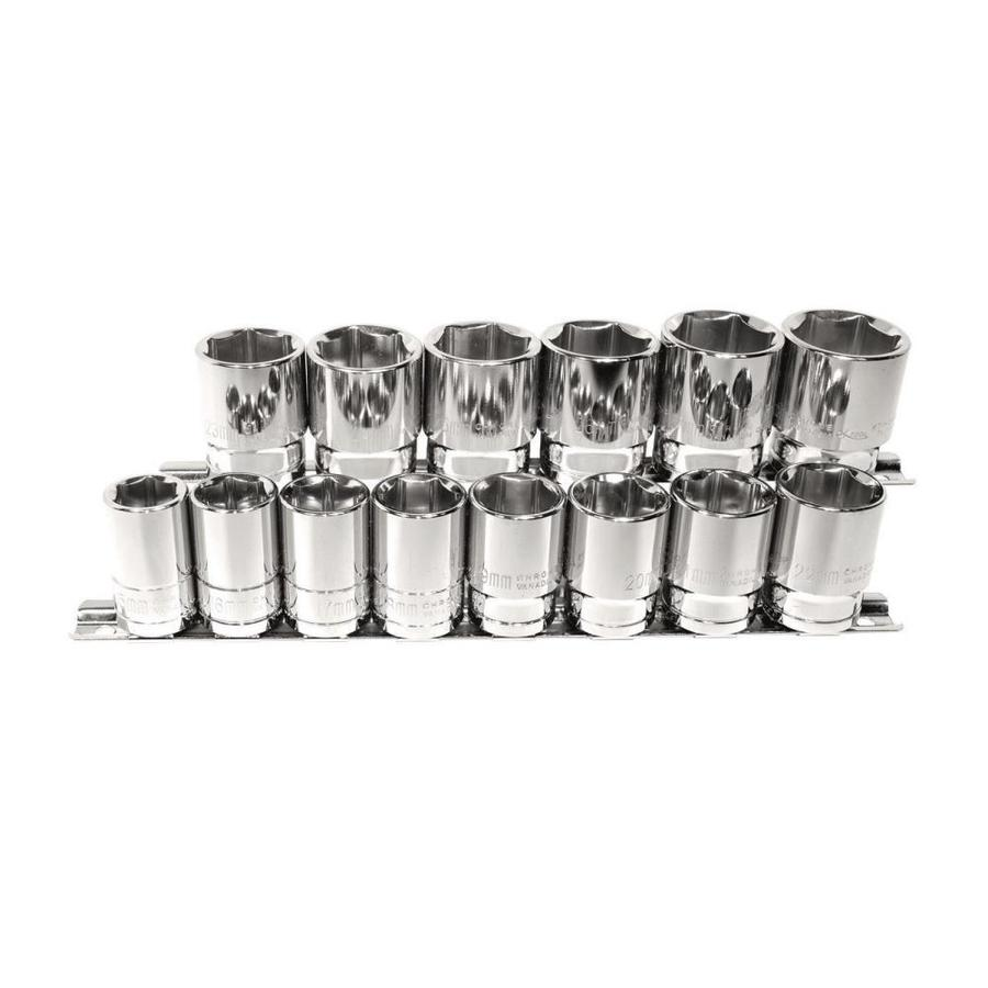 K Tool International 14-Piece Metric 1/2-in Drive 6-Point Socket Set