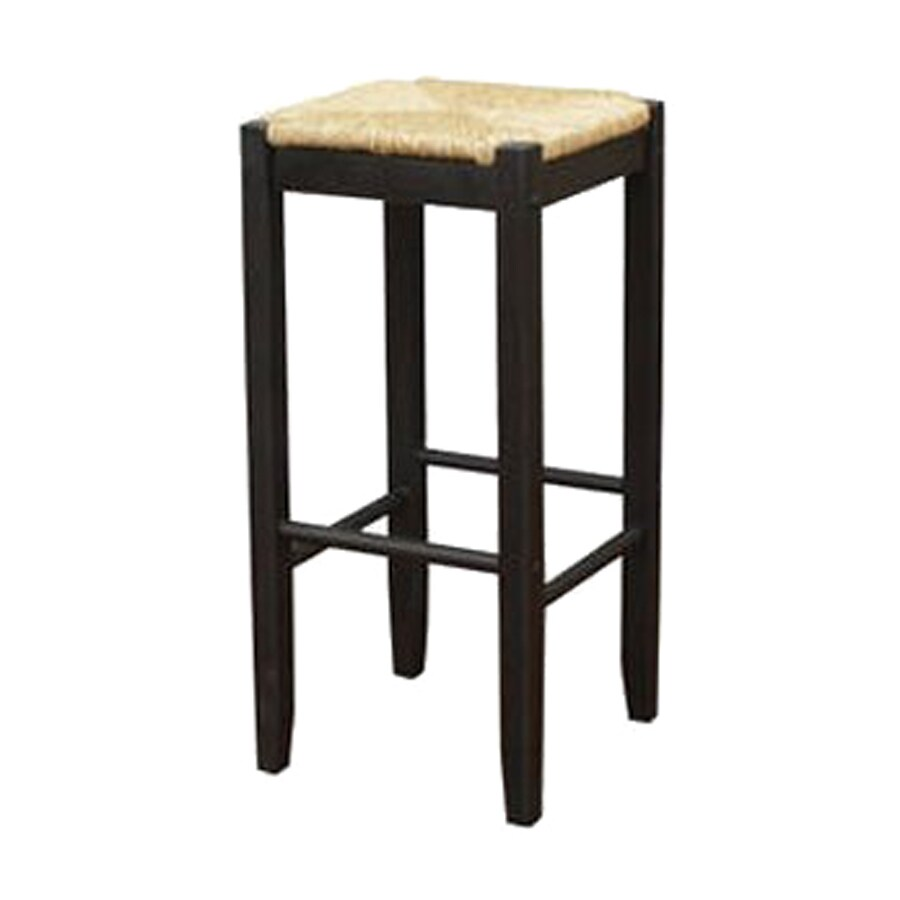 American Heritage Billiards Set of 2 Cardiff Black 23.75-in Counter Stools