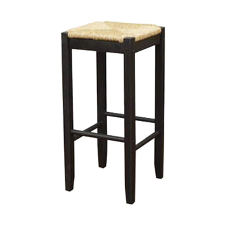 American Heritage Billiards Set of 2 Cardiff Black 28.75-in Bar Stools