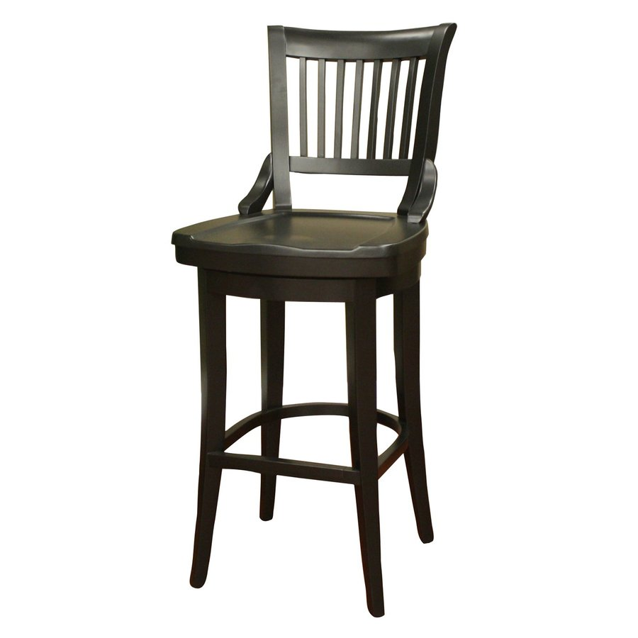 American Heritage Billiards Liberty Mission/Shaker Black Bar Stool