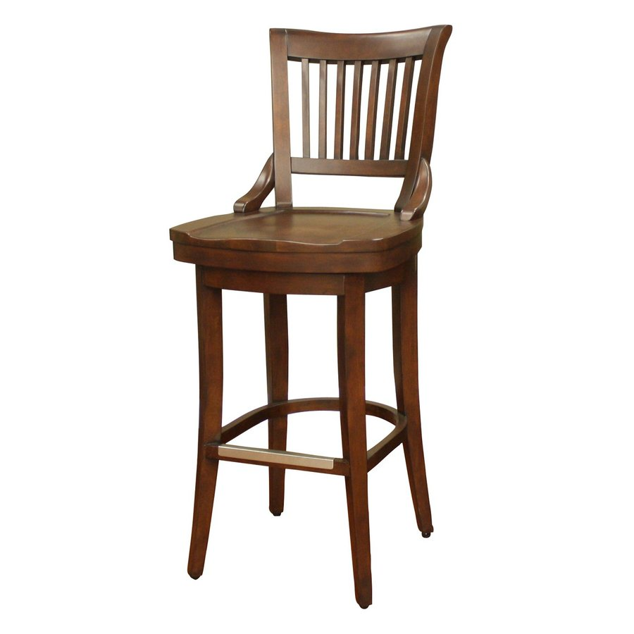 American Heritage Billiards Liberty Suede 34-in Bar Stool