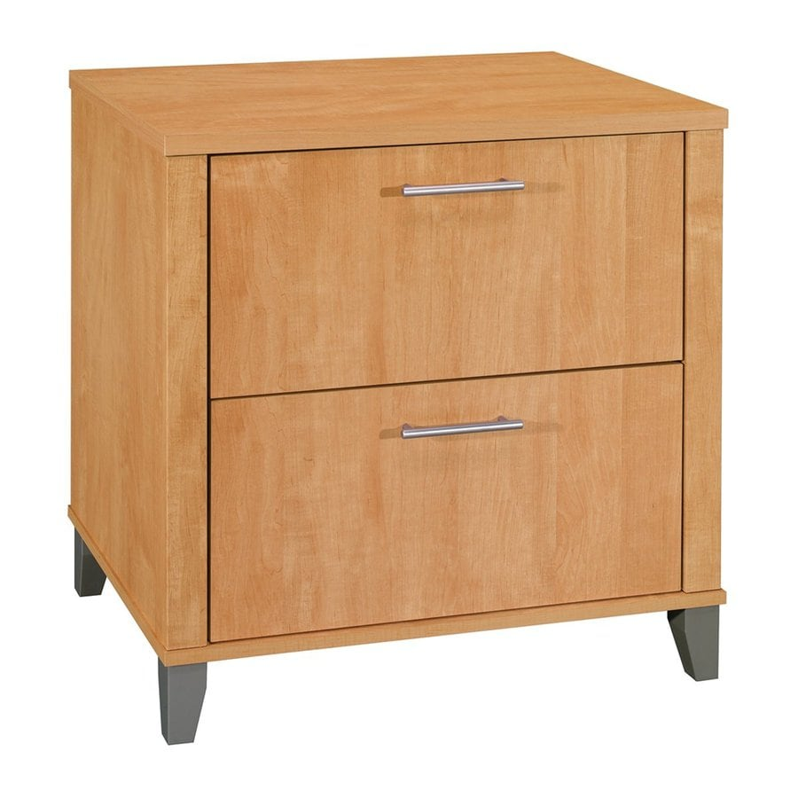 Shop Bush Furniture Somerset Maple Cross 2-Drawer File Cabinet at ...