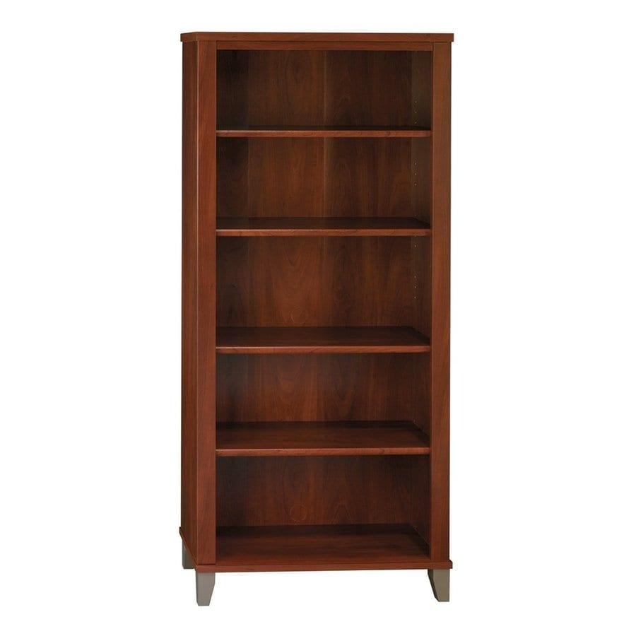Bush Furniture Somerset Hansen Cherry 5-Shelf Bookcase