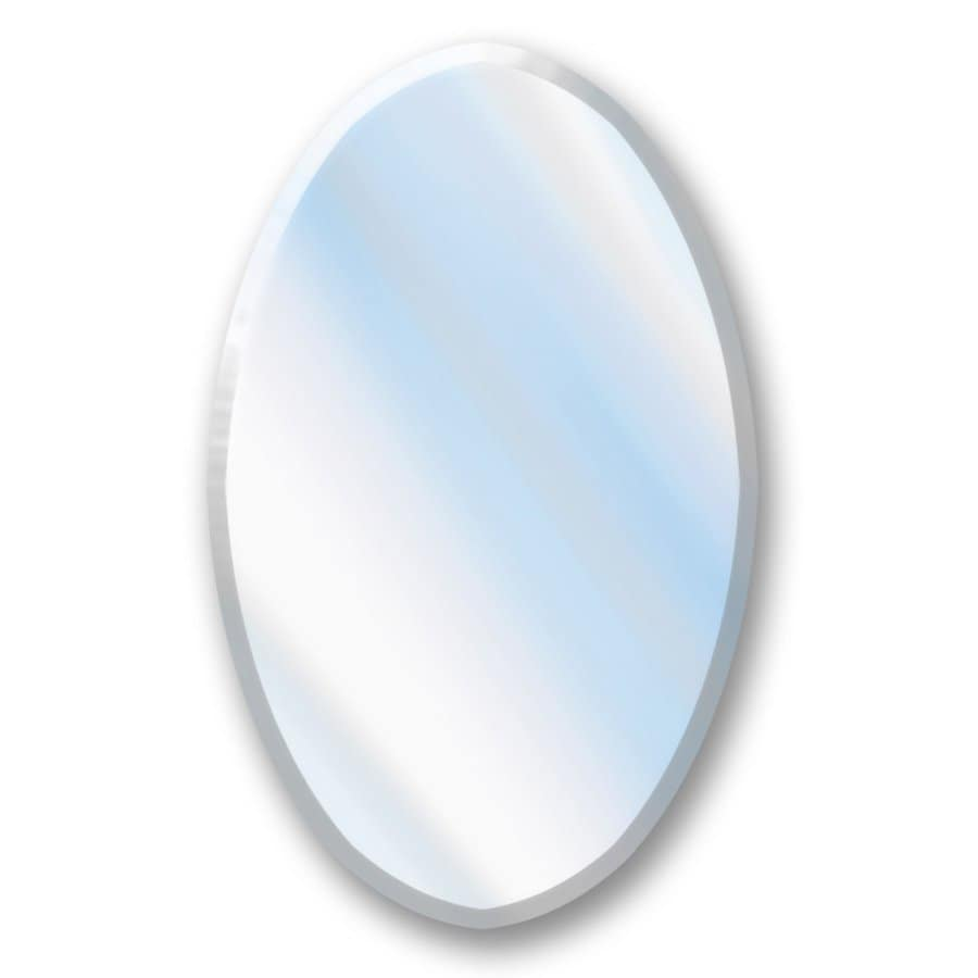 Shop american pride x oval recessed mirrored plastic medicine cabinet at Oval bathroom mirror cabinet
