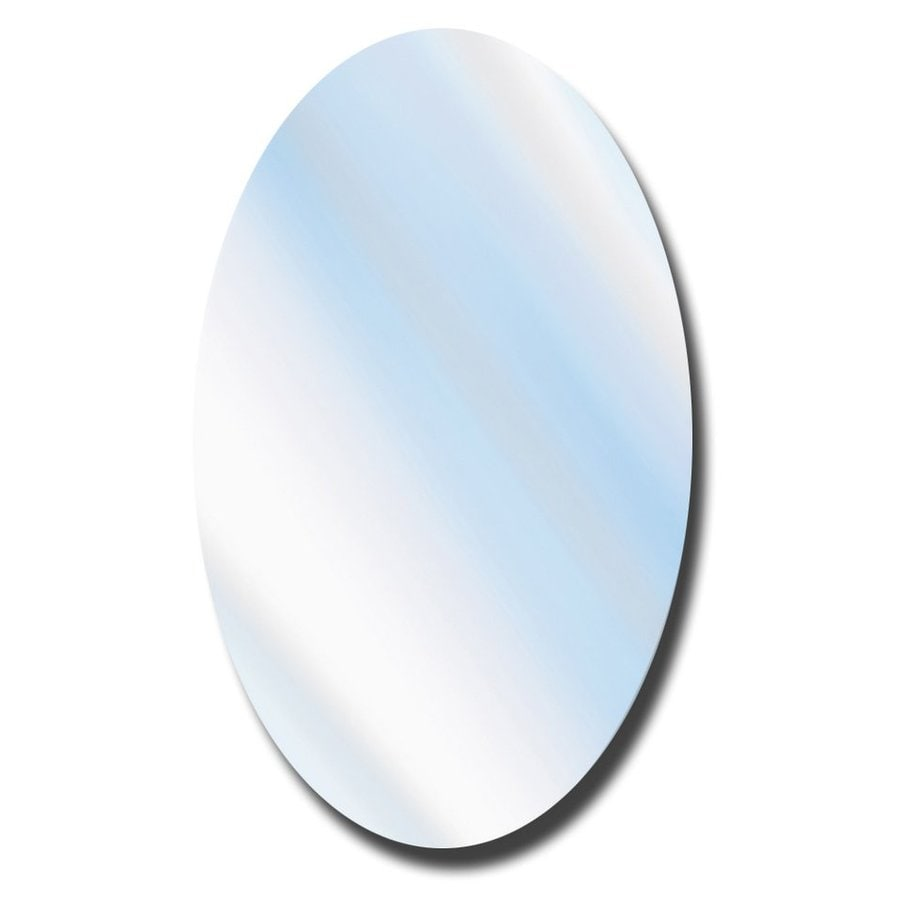 American Pride 21.25-in x 31.25-in Oval Surface Mirrored Plastic Medicine Cabinet