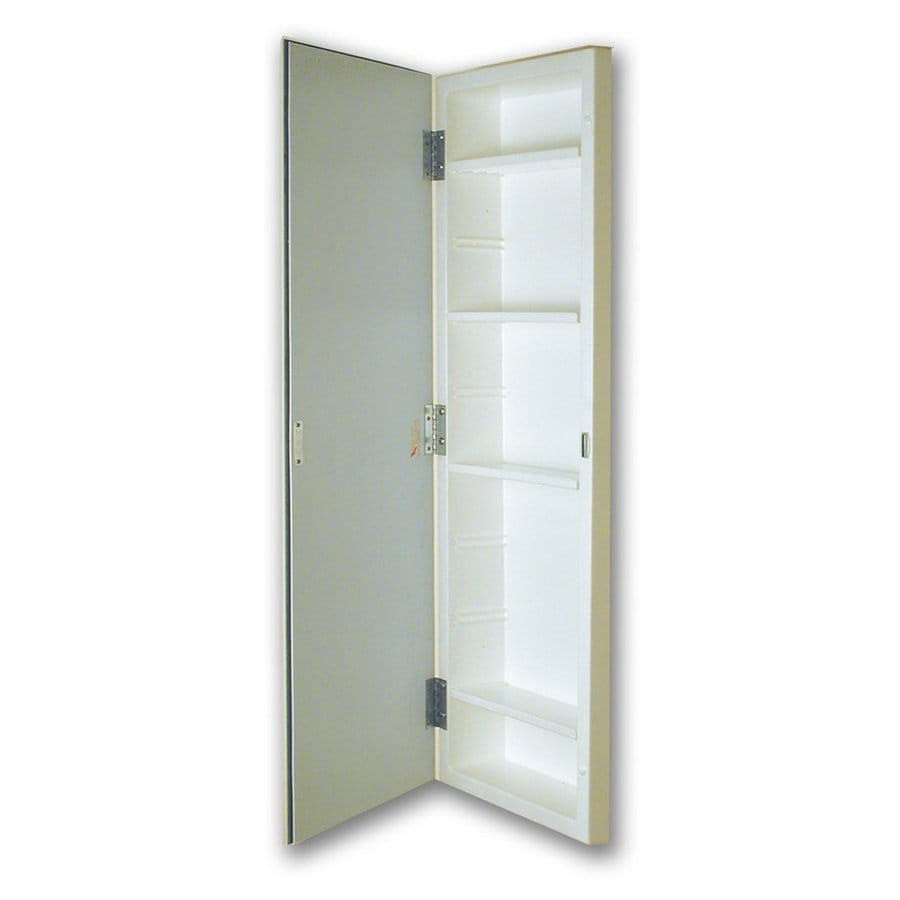 Shop American Pride 12-in x 36-in Rectangle Recessed Mirrored Plastic Medicine Cabinet at Lowes.com