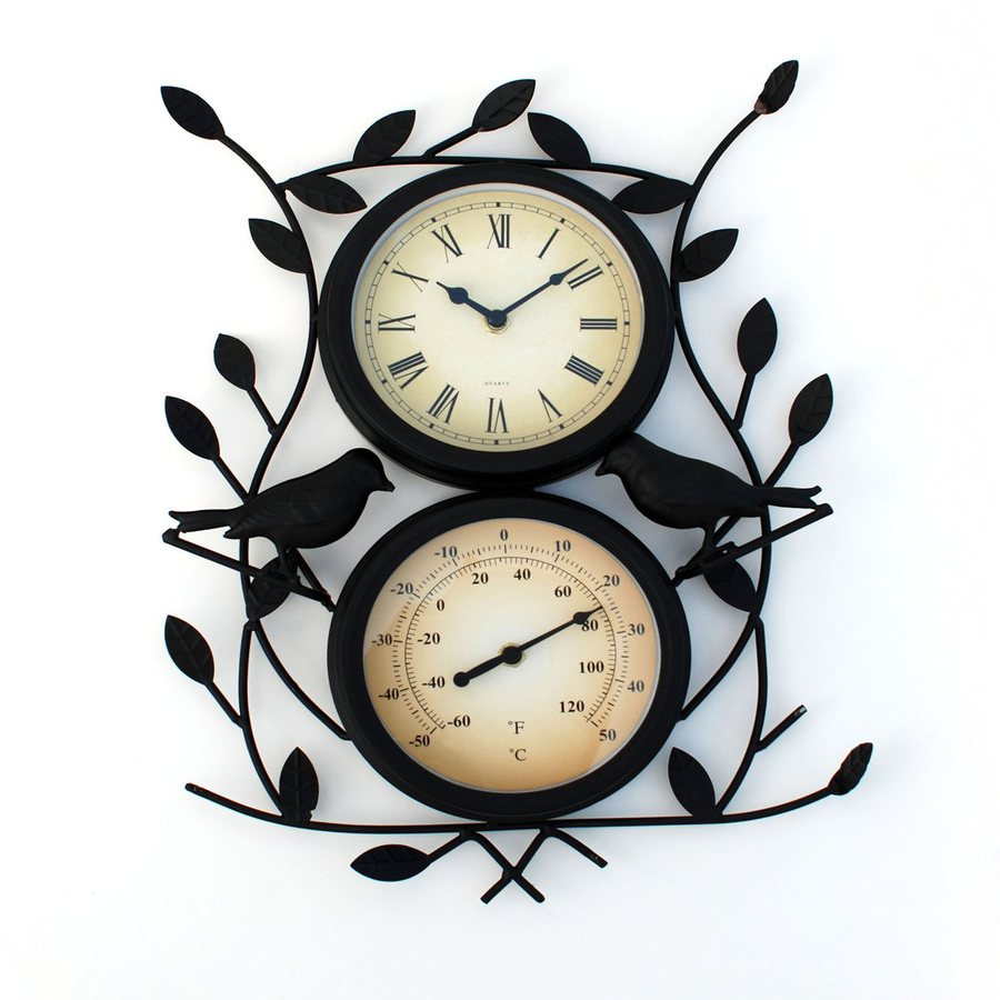 Ashton Sutton Twin Bird Analog Round Indoor Wall Clock