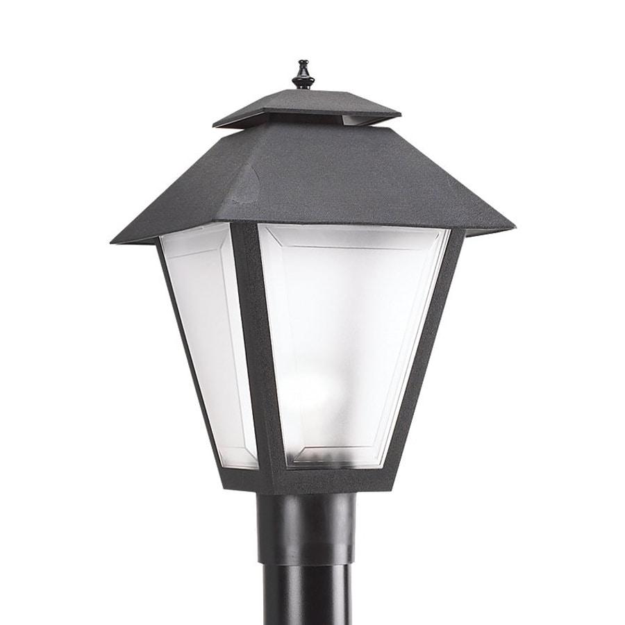 Sea Gull Lighting 18-in H Black Post Light