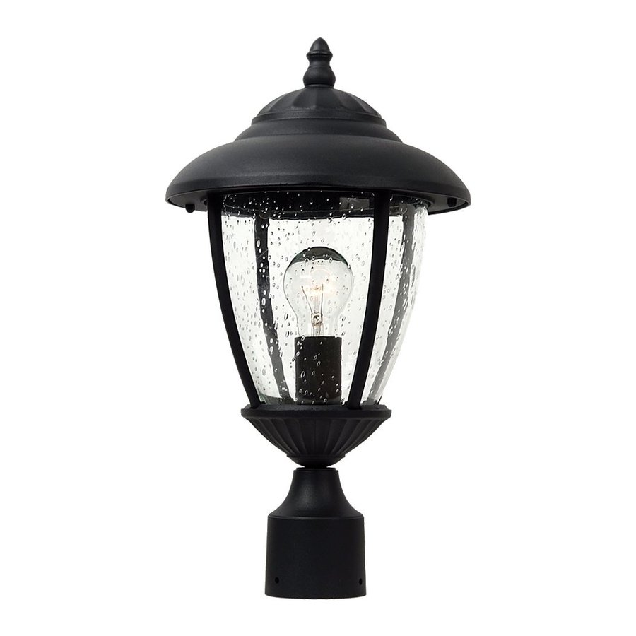 Sea Gull Lighting Lambert Hill 16.5-in H Black Post Light