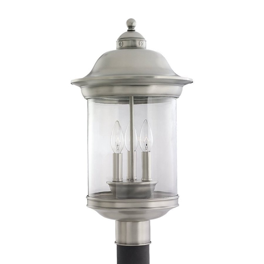 Sea Gull Lighting Hermitage 20.25-in H Antique Brushed Nickel Post Light