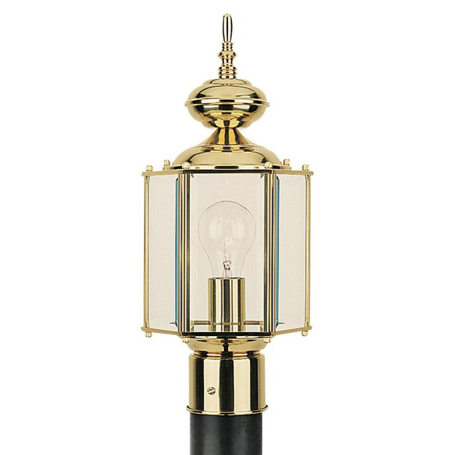 Sea Gull Lighting Classico 15.75-in H Polished Brass Post