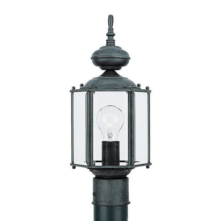 Sea Gull Lighting Classico 15.75-in H Black Post Light