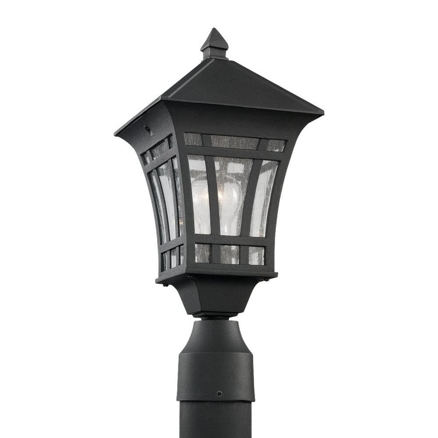 Sea Gull Lighting Herrington 16.5-in H Black Post Light