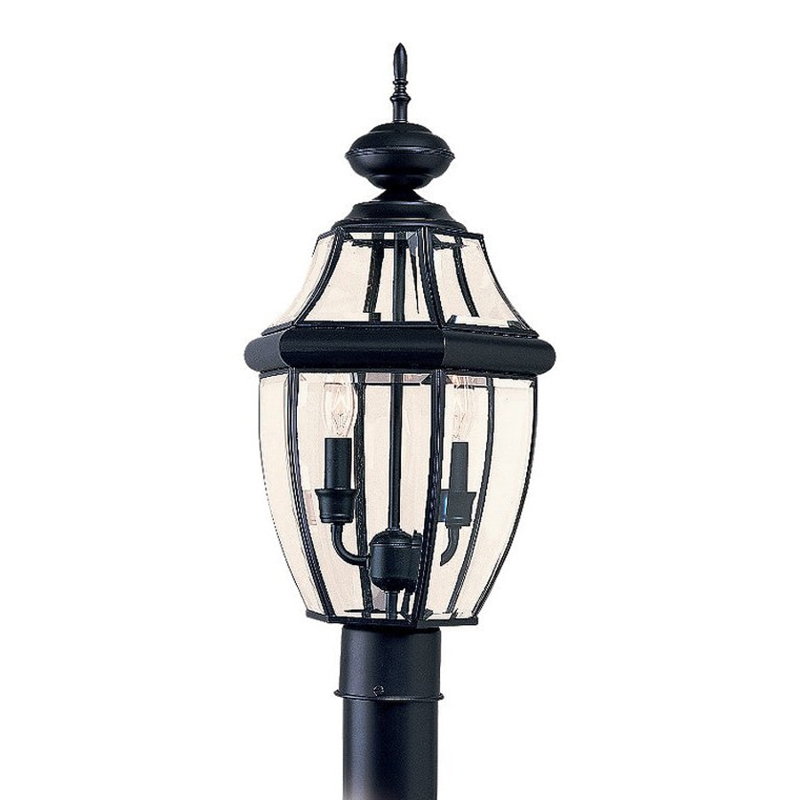 Sea Gull Lighting Lancaster 21.5-in H Black Post Light