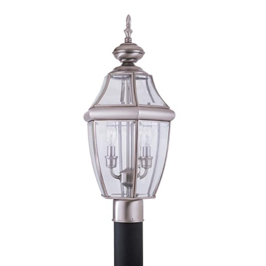 Sea Gull Lighting Lancaster 21.5-in H Antique Brushed Nickel Post Light