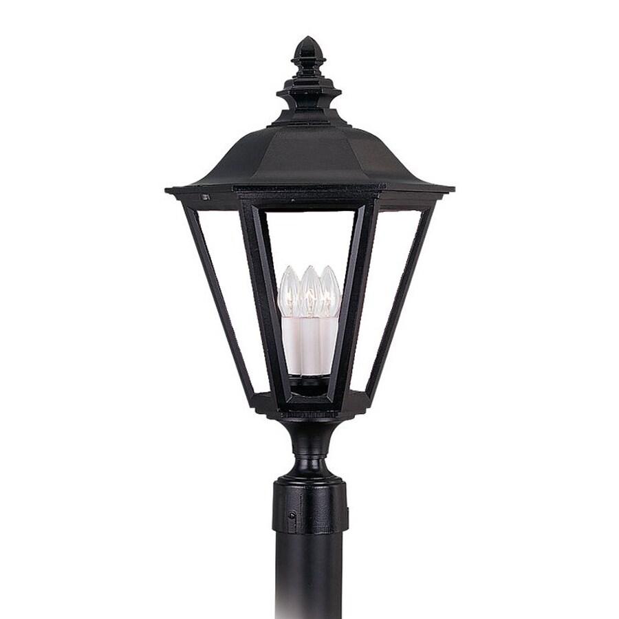 Sea Gull Lighting Brentwood 25.75-in H Black Post Light