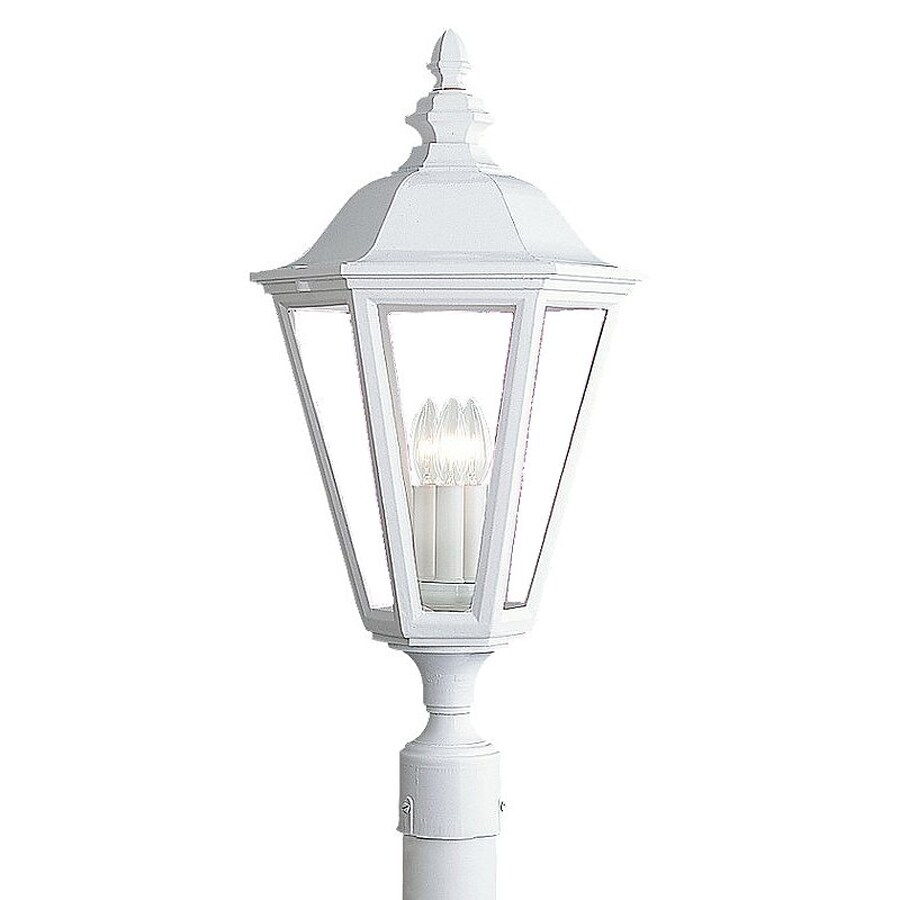 Sea Gull Lighting Brentwood 25.75-in H White Post Light
