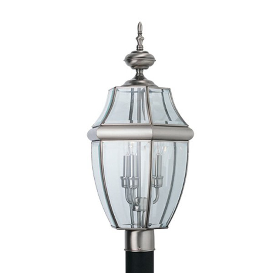Sea Gull Lighting Lancaster 24-in H Antique Brushed Nickel Post Light