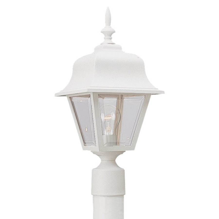 Sea Gull Lighting Painted Polycarbonate Lanterns 18-in H White Post Light