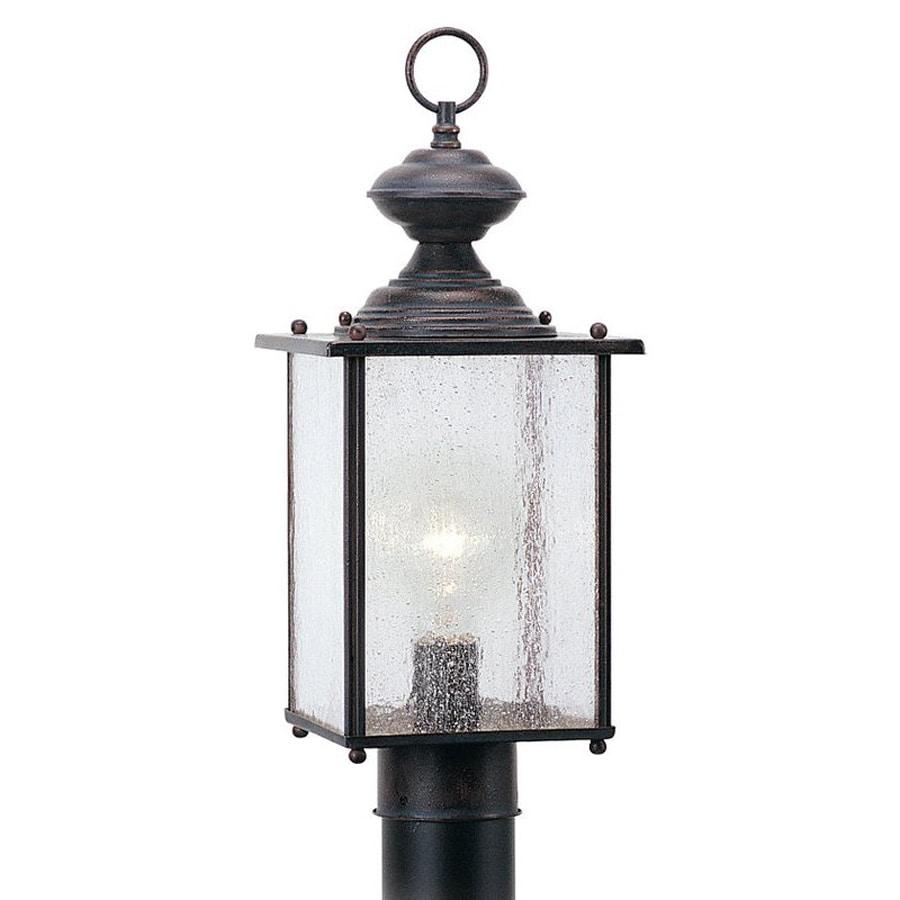 Sea Gull Lighting Jamestowne 17.25-in H Textured Rust Patina Post Light