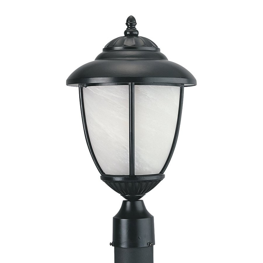 Sea Gull Lighting Yorktown 17.25-in H Black Post Light