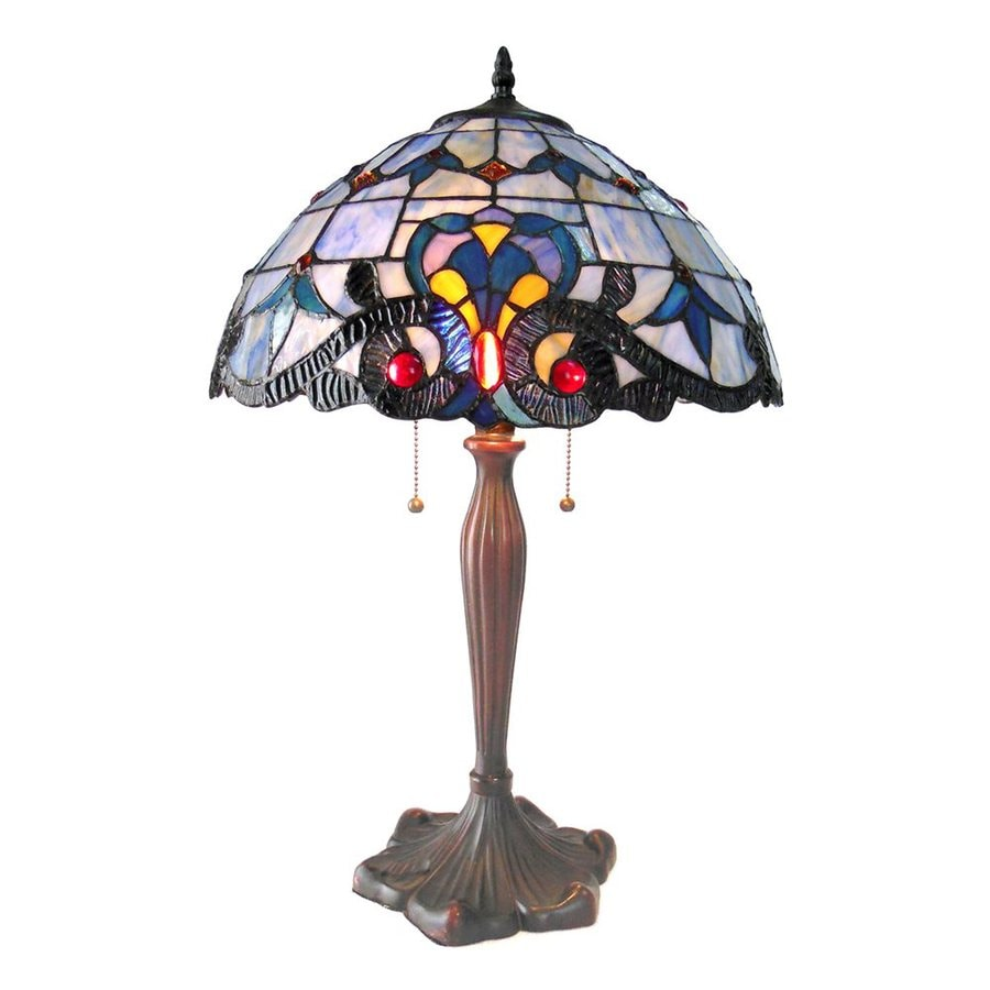 Chloe Lighting Victorian 24-in Bronze Tiffany-Style Indoor Table Lamp with Glass Shade