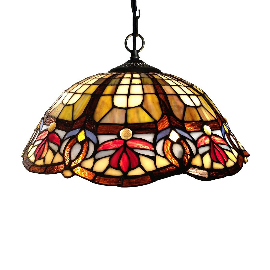 Chloe Lighting Victorian 16-in Bronze Tiffany-Style Single Stained Glass Dome Pendant  sc 1 st  Loweu0027s & Shop Chloe Lighting Victorian 16-in Bronze Tiffany-Style Single ...