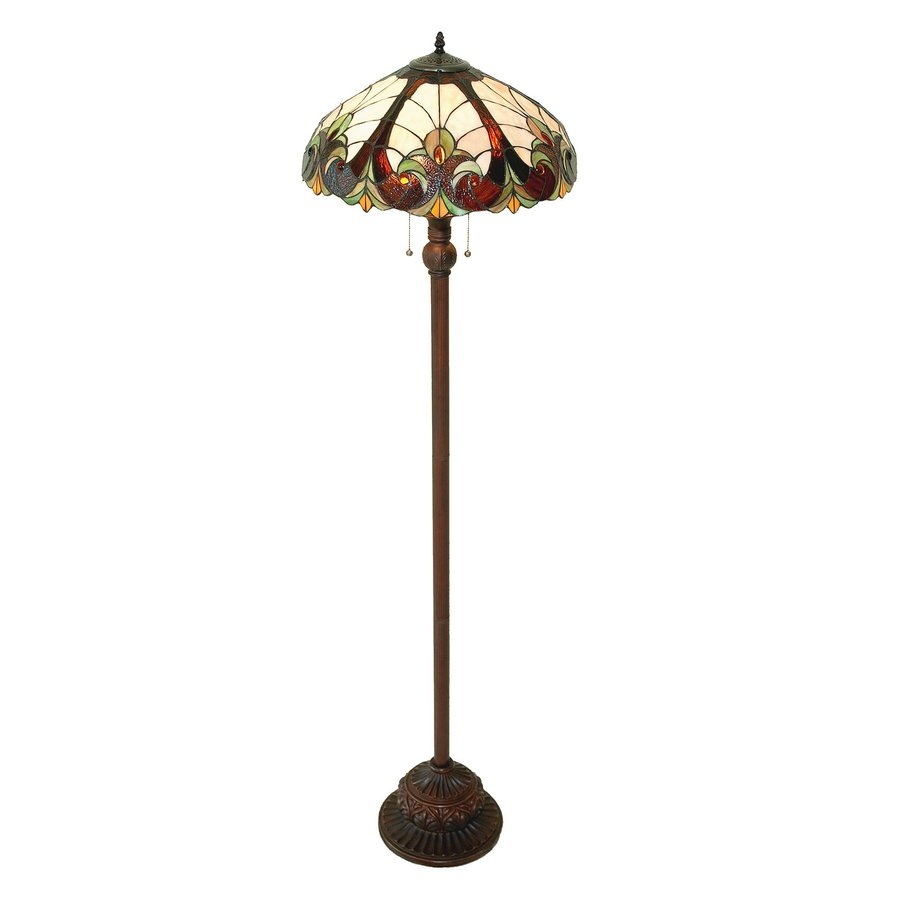 Shop chloe lighting victorian 63 in dark antique bronze stick chloe lighting victorian 63 in dark antique bronze stick floor lamp with tiffany style aloadofball Choice Image