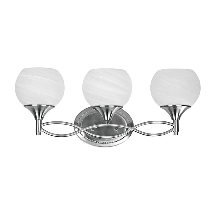 Shop chloe lighting 3 light silver nostalgia brushed - 8 light bathroom fixture brushed nickel ...