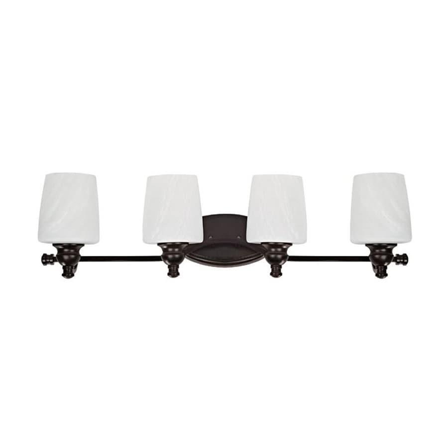 Lowes Vanity Lights Oil Rubbed Bronze : Shop Chloe Lighting 4-Light Oil Rubbed Bronze Bathroom Vanity Light at Lowes.com