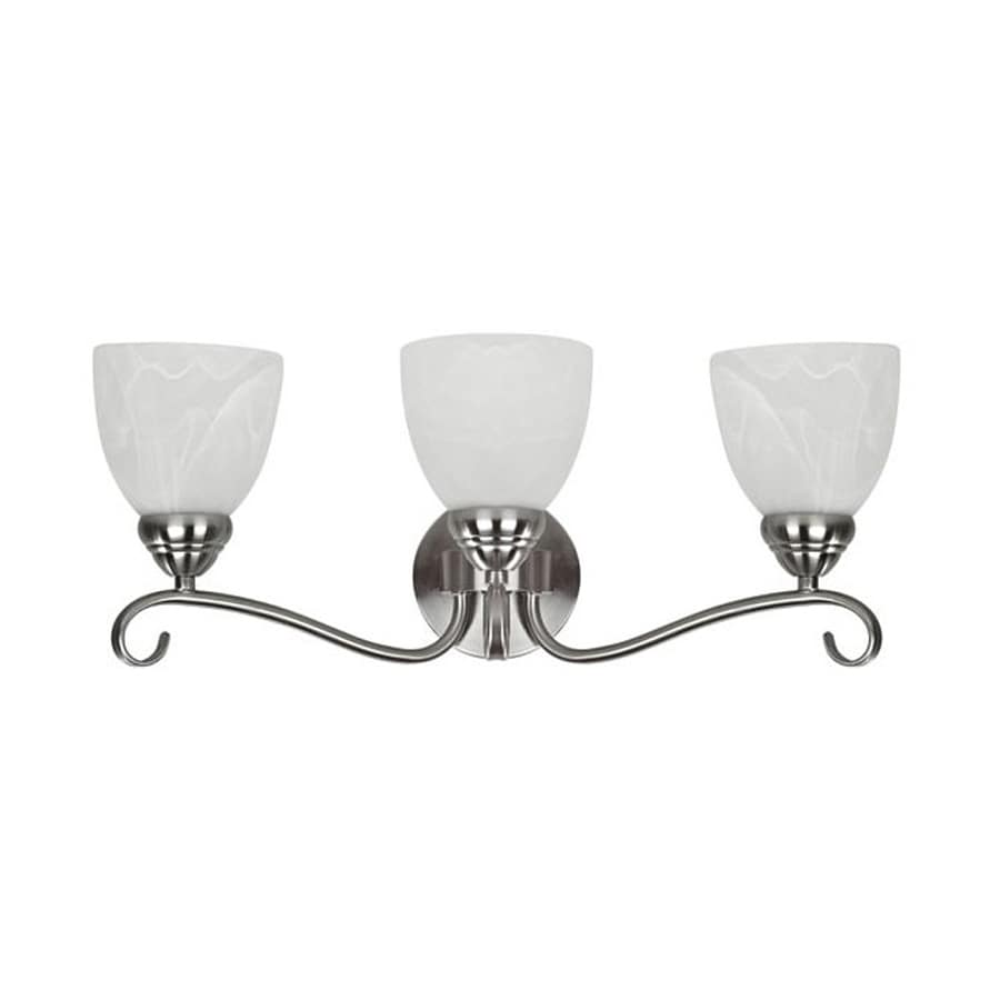 Chloe Lighting Harmonic Symphony 3-Light Brushed Nickel Bell Vanity Light