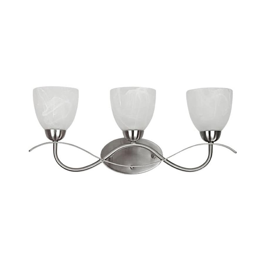 Chloe Lighting Sleek Wave 3-Light Brushed Nickel Bell Vanity Light