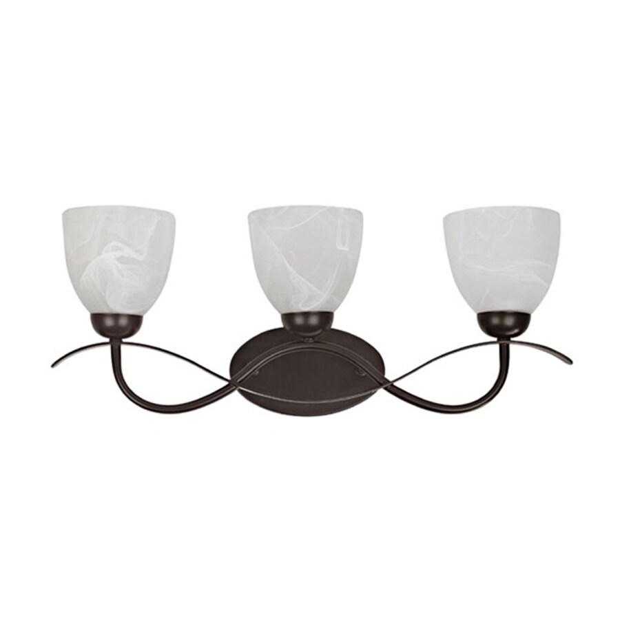 Chloe Lighting Sleek Wave 3-Light Oil Rubbed Bronze Bell Vanity Light