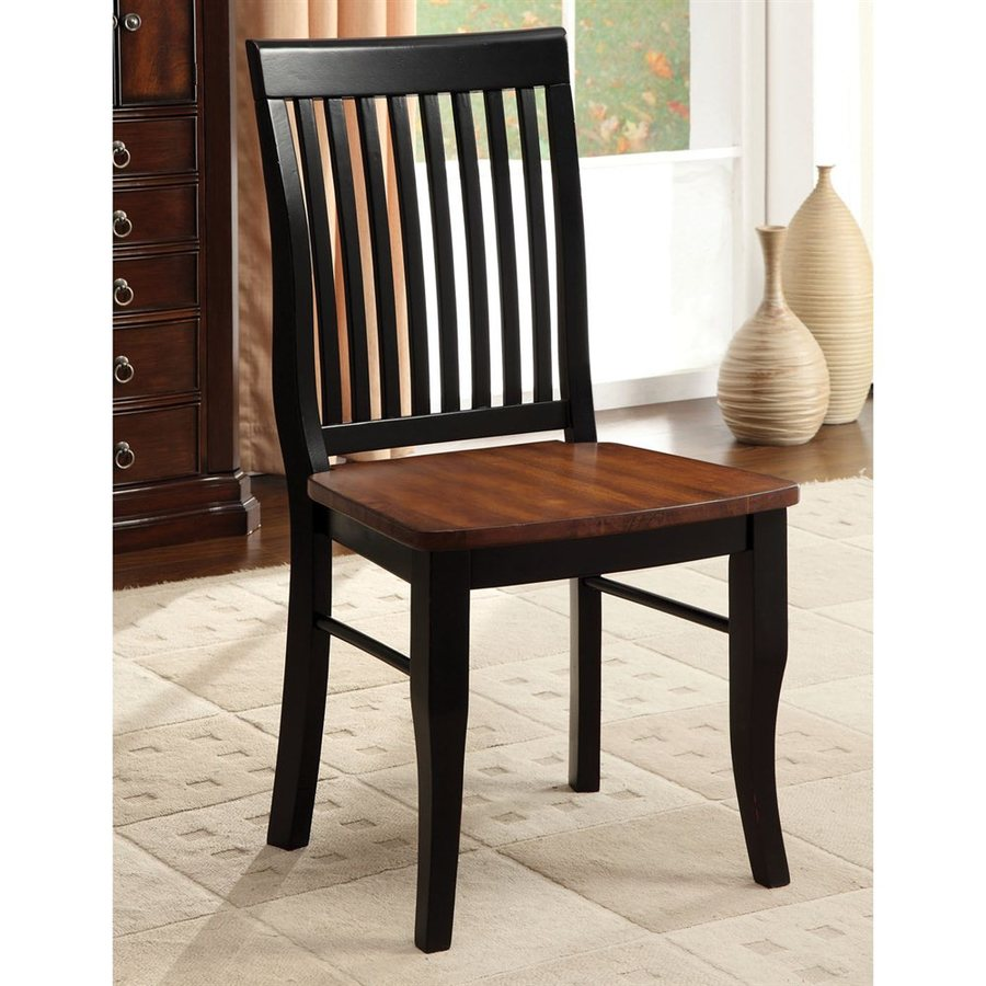 Furniture of America Set of 2 Earlham I Mission/Shaker Side Chairs
