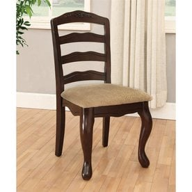 Exceptionnel Furniture Of America Set Of 2 Townsville Traditional Light Brown Side Chairs