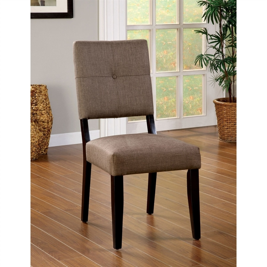 Furniture of America Set of 2 Bay Side Espresso Side Chairs