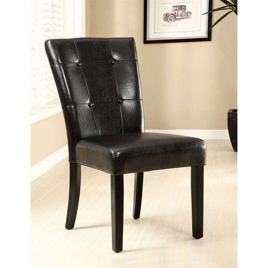 Furniture of America Set of 2 Marion Espresso Side Chairs