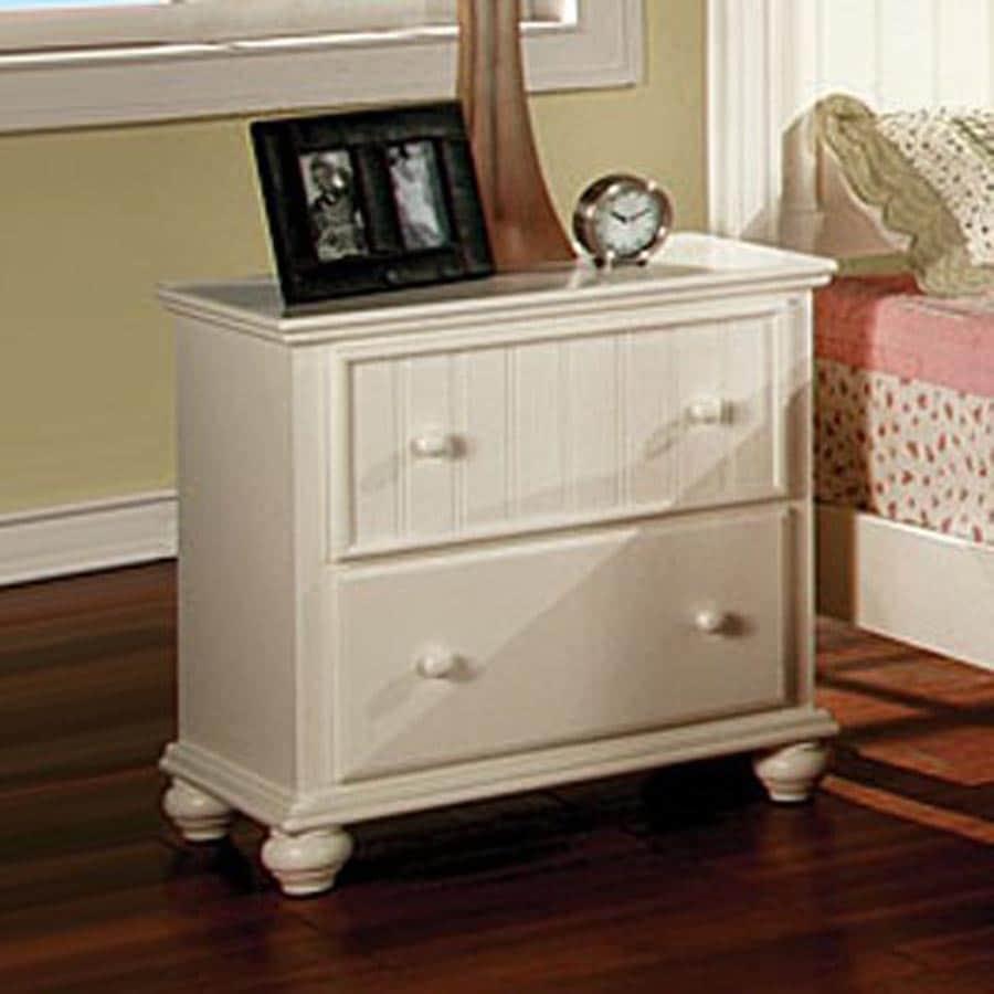 Furniture of america cape cod white rubberwood nightstand