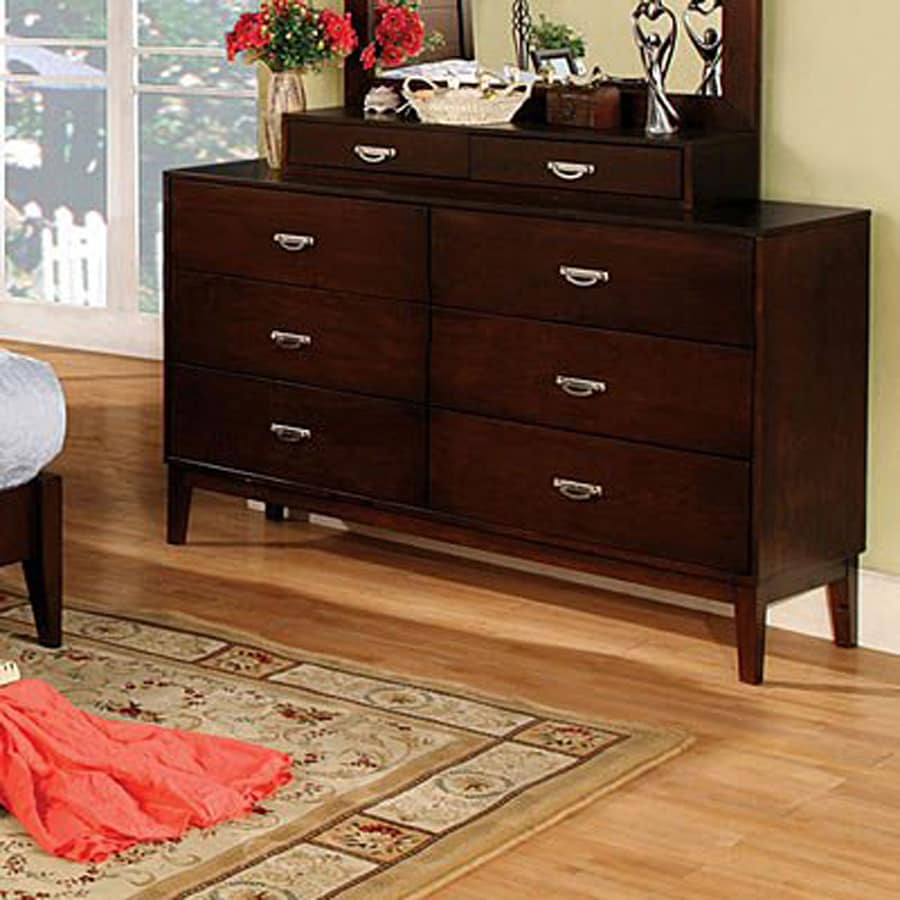 Furniture of America Crystal Lake Brown Cherry 6-Drawer Dresser