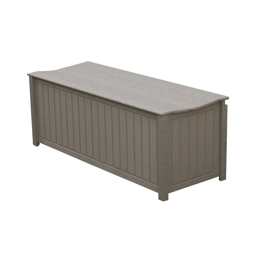 Eagle One Brisbane 48-in L x 19-in W 61-Gallon Driftwood HDPE Deck Box