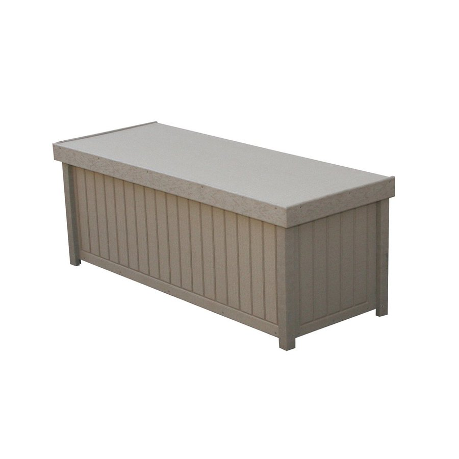 Eagle One Brisbane 48-in L x 19-in W 54-Gallon Driftwood HDPE Deck Box