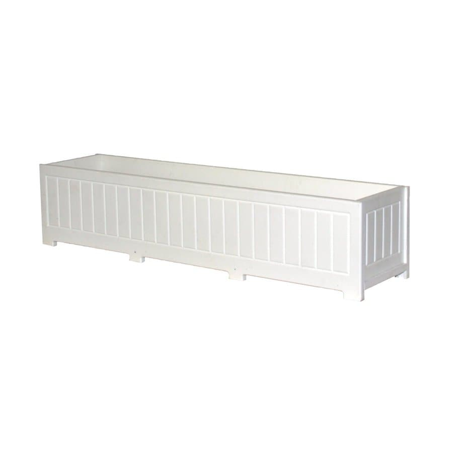 Eagle One 48-in x 12-in White Plastic Catalina Raised Planter Box