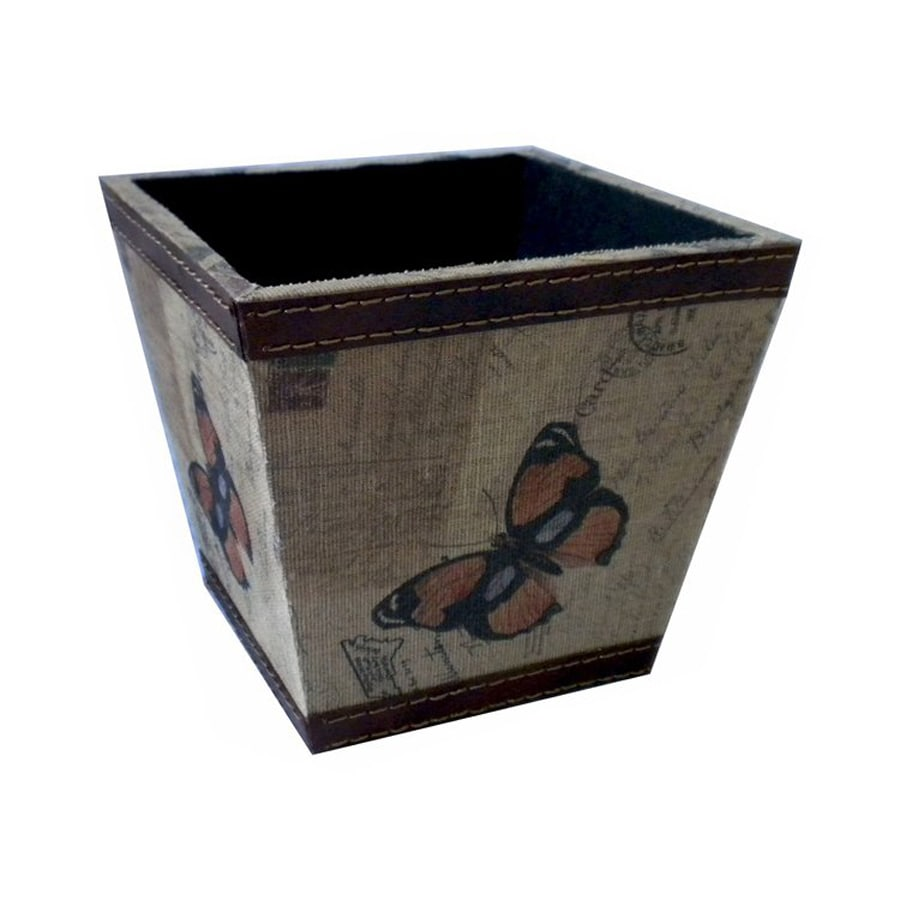 Cheung's 6-in x 5.5-in Tan/Multicolor Wood Carte Postal Planter